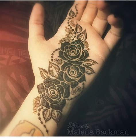 henna tattoo rose designs three roses mehndi pattern for palm mehndi design