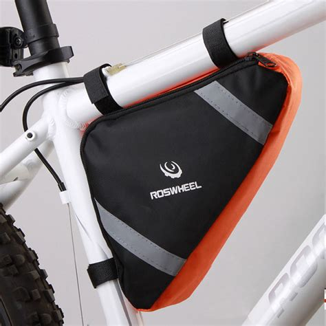 Roswheel Tas Sepeda Segitiga Blue Promo roswheel bicycle frame triangle bag storage pouch bags cycling corner pannier blue orange