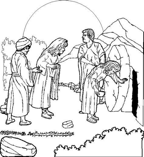 coloring page jesus empty tomb jesus christ resurrection pictures coloring pages