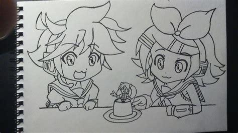 www len de dibujos gamers y otakus dibujo chibi de rin y len kagamine