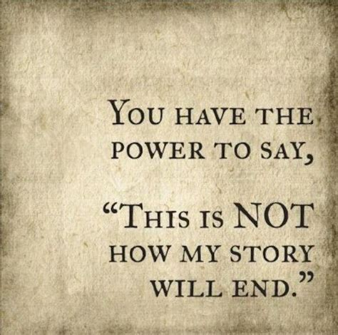 This Is Not Your Story you the power to say this is not how my story will