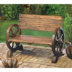 rustic wood design home garden wagon wheel bench decor wagon wheel bench decor pinterest