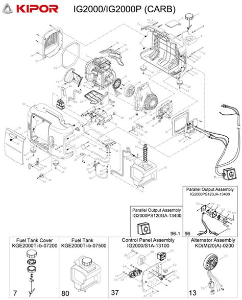 kipor generator parts diagram best free home design
