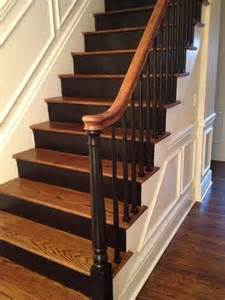 black staircase banister 25 best ideas about black staircase on