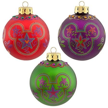 disney christmas ornament set bohemian mickey mouse icons