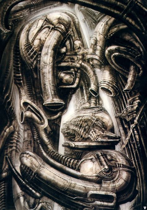 H R Giger Sketches by Hans R 252 Di Giger Biomechanical Landscape Ii A