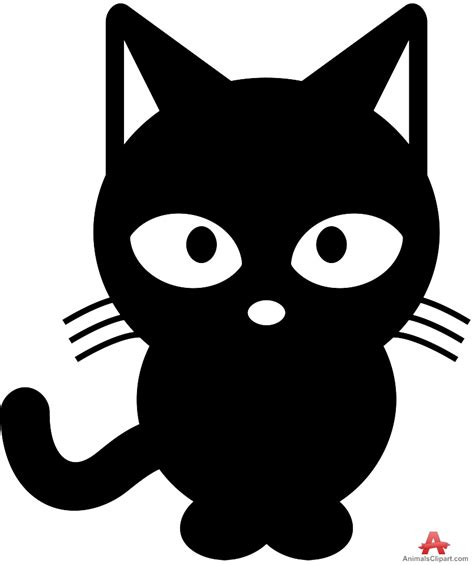 clipart cat black cat clipart cat outline pencil and in color black
