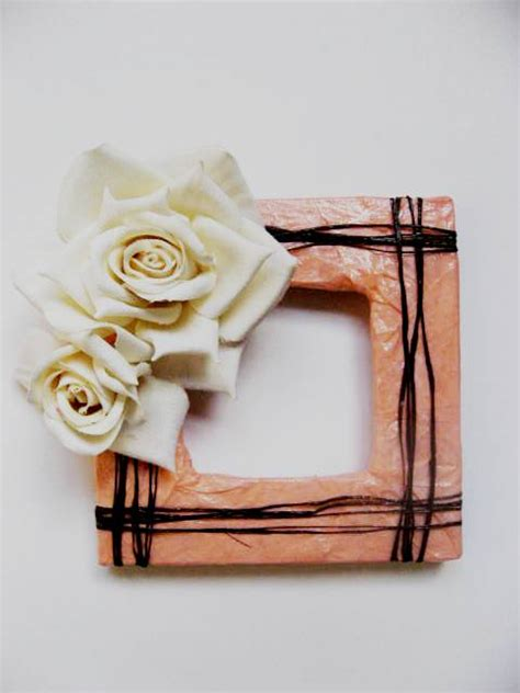 How To Make Handmade Frames For Pictures - tissue paper is not only for gift giving the
