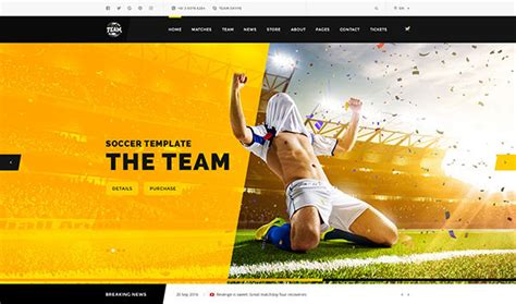 20 Amazing Psd Sport Web Design Templates Web Idesignow Sports Website Templates