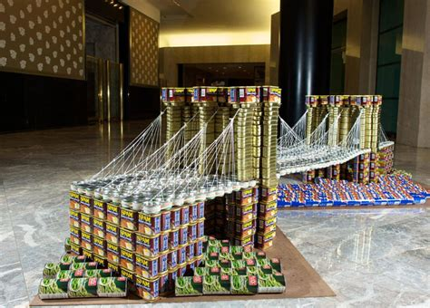 canned food sculpture ideas nyc canstruction 2012 canstruction photos