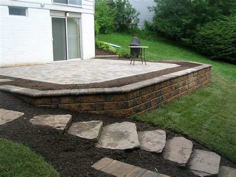 retaining wall steps and patio flickr photo