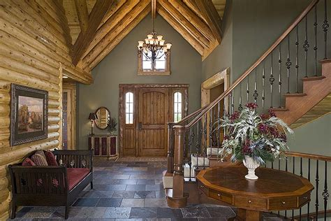 runner up best log home staircase design town country