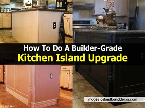 builders grade how to do a builder grade kitchen island upgrade