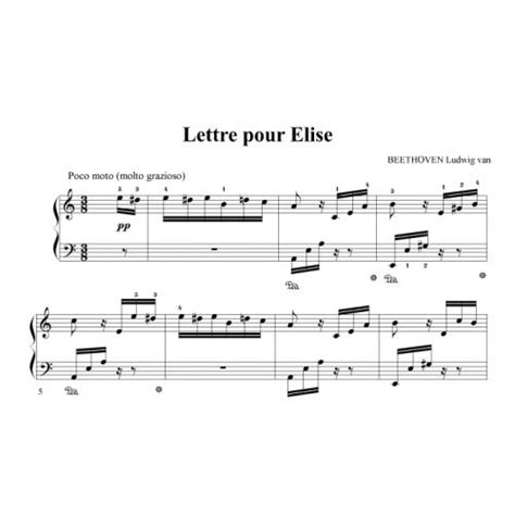 beethoven lettere ipe beethoven ludwig lettre pour elise piano