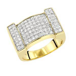 mens gold ring by luxurman 1 5ct 14k