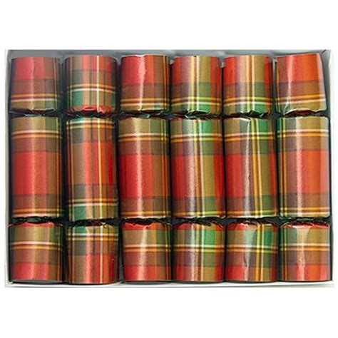christmas plaid christmas crackers olde english crackers