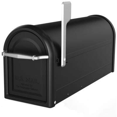 architectural mailboxes chadwick nickel accents black post