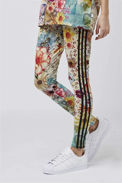 patterned tights topshop topshop colourful three stripe leggings by adidas