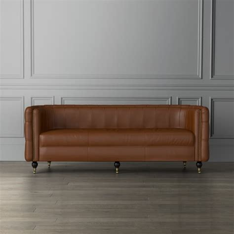 Soho Leather Sofa Soho Leather Sofa Williams Sonoma
