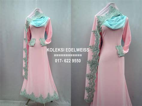 Baju Jubah Untuk Tunang koleksi edelweiss baju pengantin baju nikah dan tunang muslimah terkini preorder 12 warna