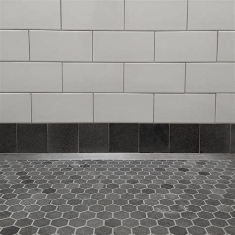 bluestone tiles bathroom bluestone hexagons with ceramic subway tile surfaces