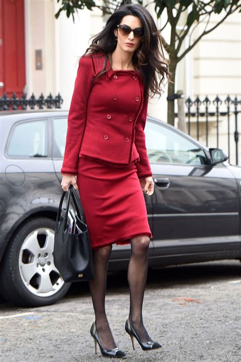 Amel Maroon amal clooney is giving jackie kennedy vibes in a