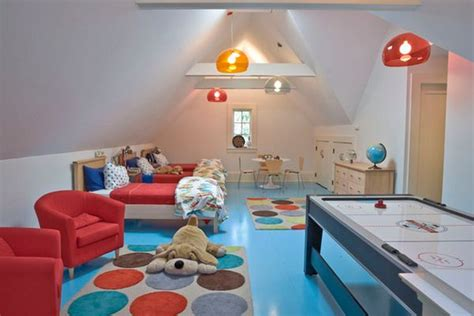 turn the attic into a play area for the 25