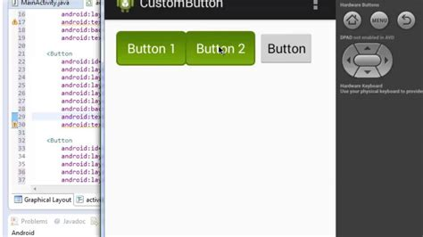 android studio button open new layout custom button android youtube