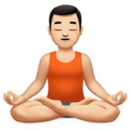emoji yoga man in lotus position light skin tone emoji u 1f9d8 u