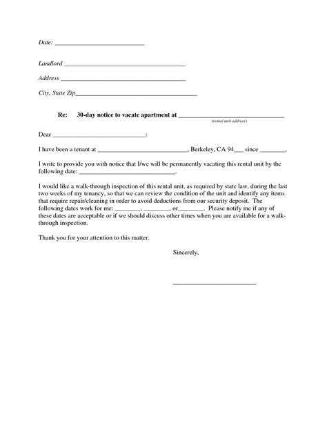 Notice To Vacate Apartment Early Template 10 Best Images Of 30 Day Notice Template 30 Day Notice