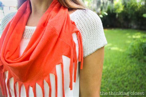 10 minute fringe infinity t shirt scarf the thinking closet