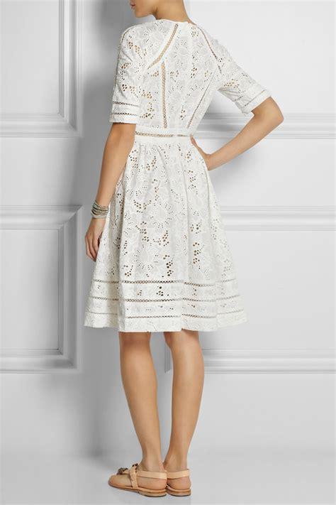 Broderie Dress lyst zimmermann roamer broderie anglaise cotton dress in
