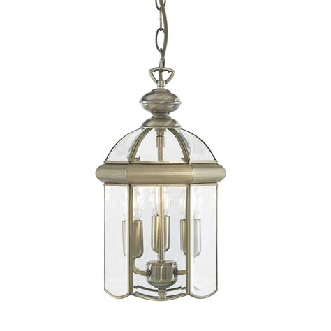 Brass Ceiling Lantern by Searchlight 7133ab Solid Brass Lantern 3 Light Ceiling Fitting