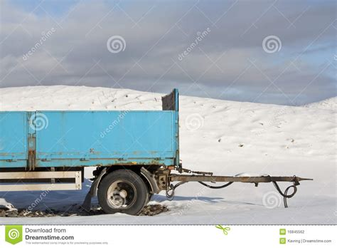 blue trailer stock photography image 16845562