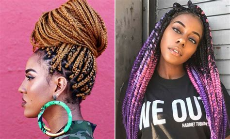 braids with color 23 pretty box braids with color for every season stayglam