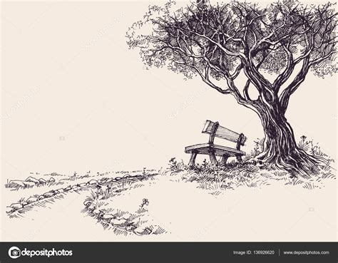 bench under tree bench under tree young girl sitting on bench under lone