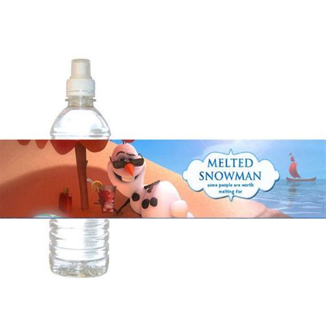 olaf printable water bottle 7 best images of melted olaf water bottle label printable