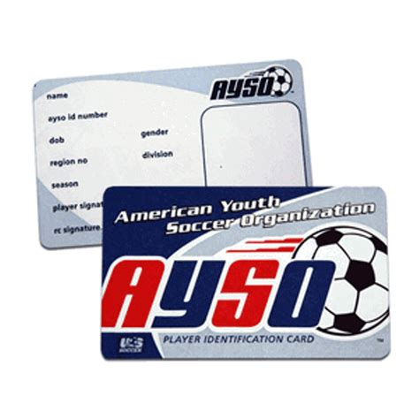 soccer player id card templates ayso player id cards pack of 80 https www aysostore