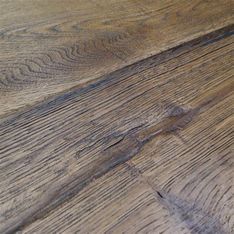 Distressed Engineered Oak Flooring - loire distressed 20mm honey oak heavy brushed engineered