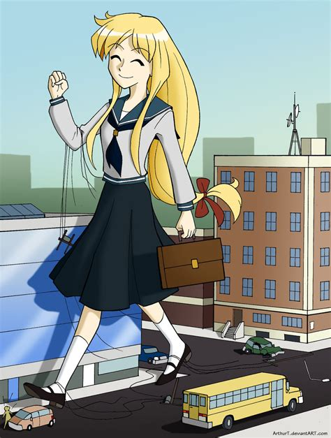 anime giantess mega giantess crush wallpaper