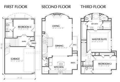 narrow lot 3 story house plans