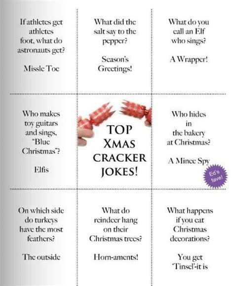 christmas cracker mottos jokes cool top cracker jokes dinner