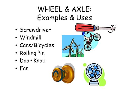 exle of wheel and axle do this on page 23 write this ppt
