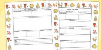 Individual Lesson Plan Template by Seaside Themed Editable Individual Lesson Plan Template