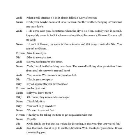 contoh dialog bahasa inggris versi pendek contoh 36