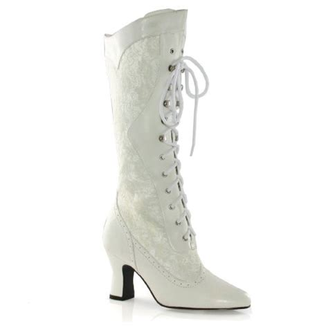 s ivory white boots white lace