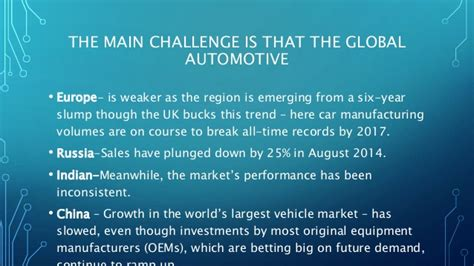 Mba In Automobile Industry by The Global Automobile Industry Mba592 2016