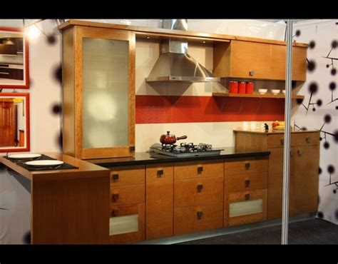 wooden modular kitchen in kottayam kerala india