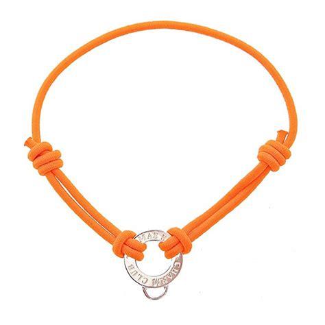 sabo orange stretch cord charm bracelet jewellery