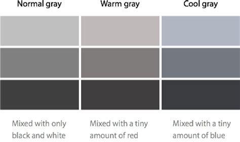 different shades of gray different gray color names